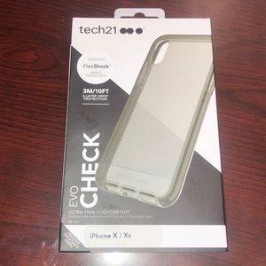 Tech21 flexshock case in grey/smoke color NEW